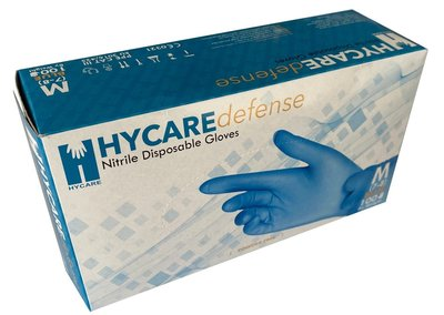 Nitrile Disposable Gloves Powderfree - HYCARE defense (BOX OF 100 GLOVES)