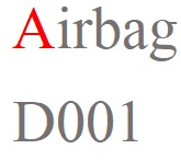 Airbag for transportation purposes